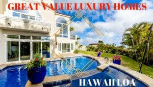 Hawaii Loa Great Value Luxury Home
