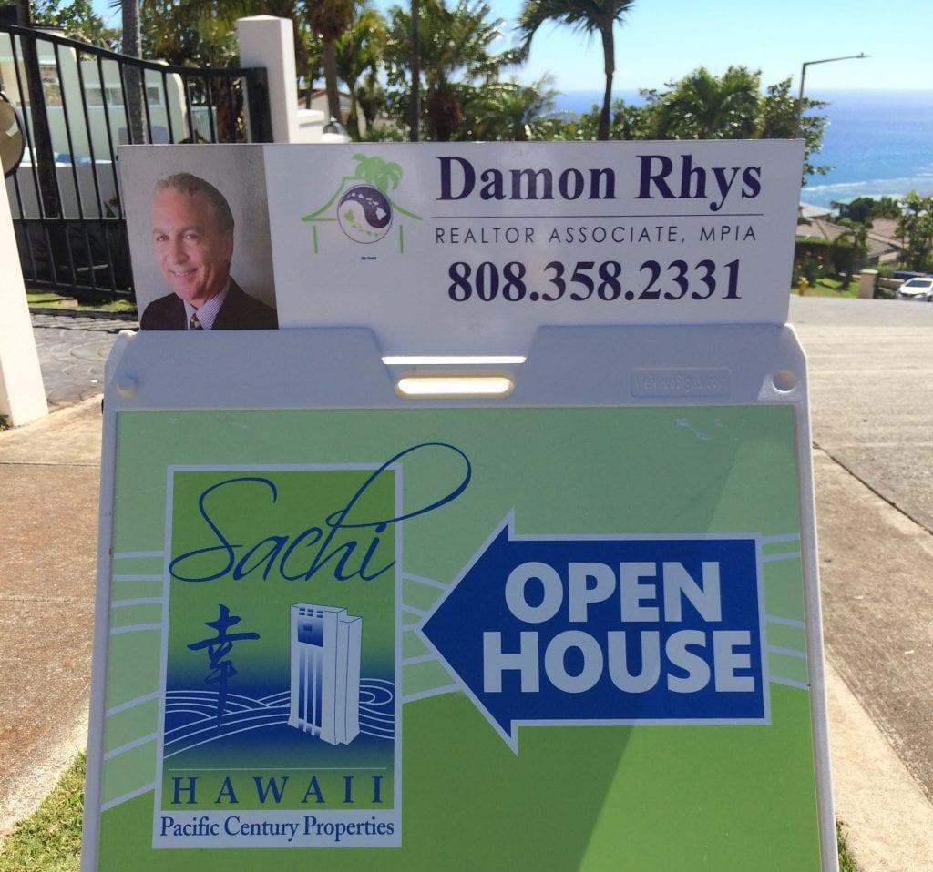 Damon Rhys Open House Sign